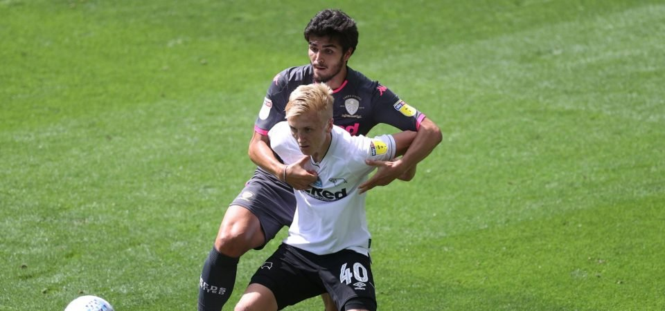 Leeds starlet Pascal Struijk had a monstrous game against Derby