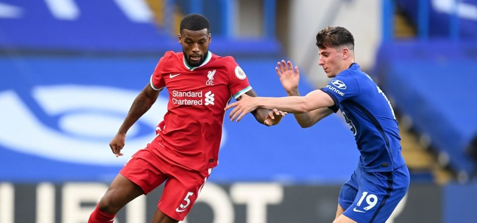 Liverpool fans slam Georginio Wijnaldum's display against Chelsea