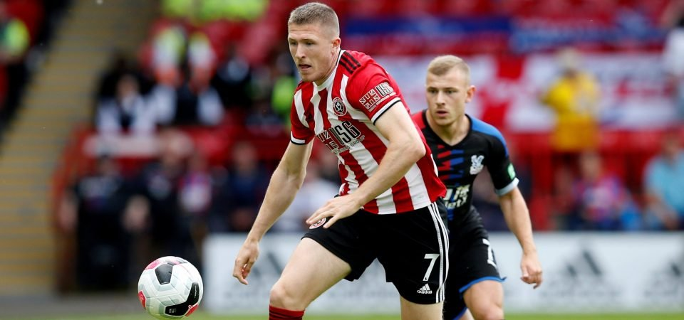 Sheffield United midfielder John Lundstram remains coy about his future amid Rangers links