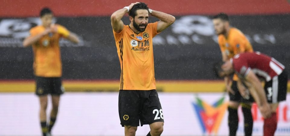 Wolves midfielder Joao Moutinho had an awful night vs the Hammers
