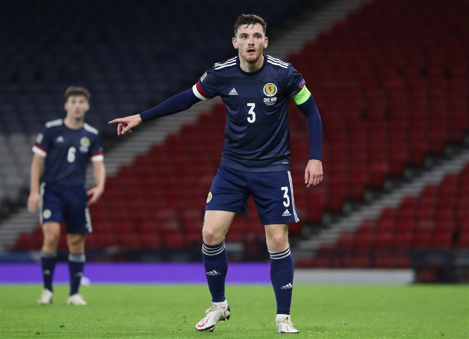 Andy Robertson in action for Scotland - Forget Adrian: Klopp must adapt £57.6m-rated Liverpool man's role or risk Villa repeat – opinion