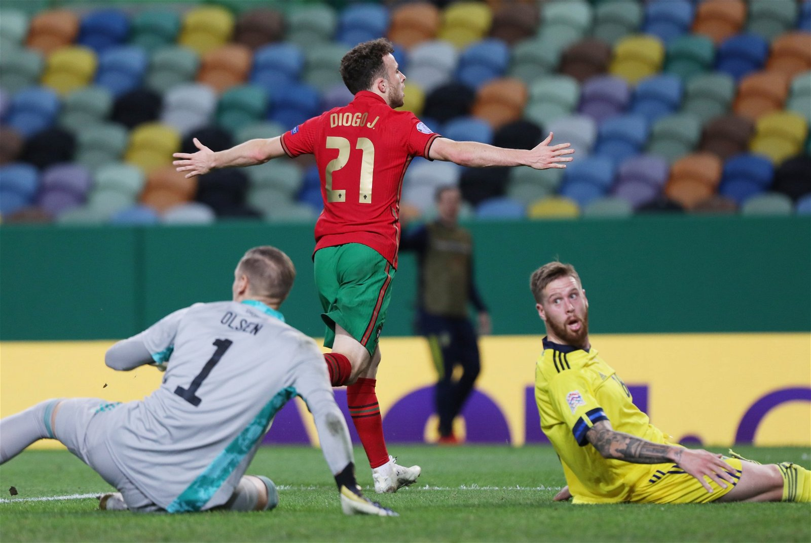 Diogo Jota celebrates for Portugal - 9.5 rating: One man can add new dimension to Klopp's attack, could transform Liverpool – opinion