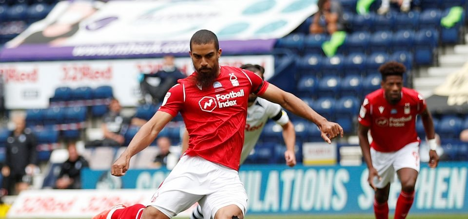 Chris Hughton has to be careful if he's considering dropping Forest striker Grabban