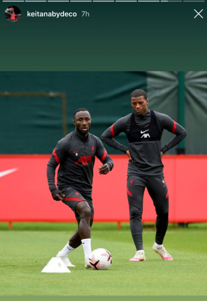 Naby Keita Instagram story2 413x600 - Watch out Villa: £48m-rated LFC ace hints at strong partnership in his Instagram story – opinion