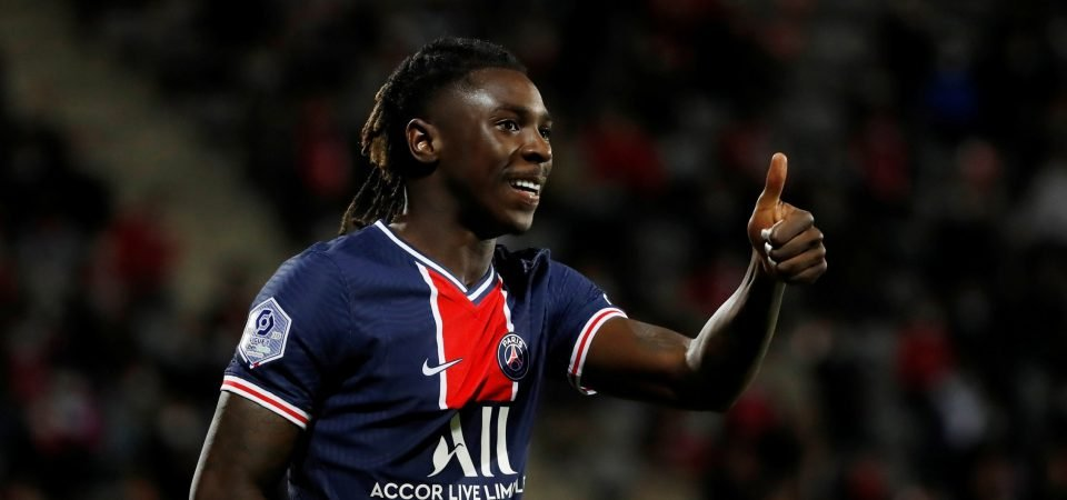 Exclusive: Harewood believes Everton future is in Moise Kean's hands due to PSG form