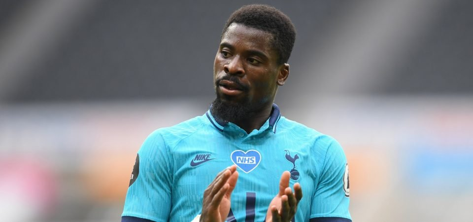 Liability: Spurs' Serge Aurier was up to his old tricks vs Antwerp