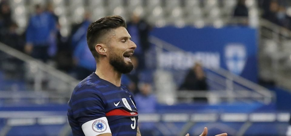 Olivier Giroud: West Ham considering January swoop for Chelsea outcast