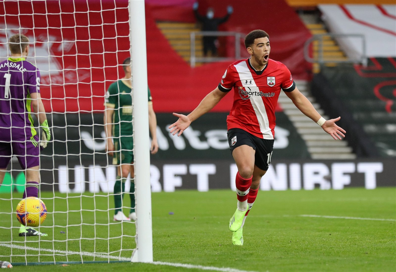 che adams celebrates scoring vs sheff utd premier league - Forget Adams: £13.5m-rated Southampton beast with 82 touches was the star of the show - opinion