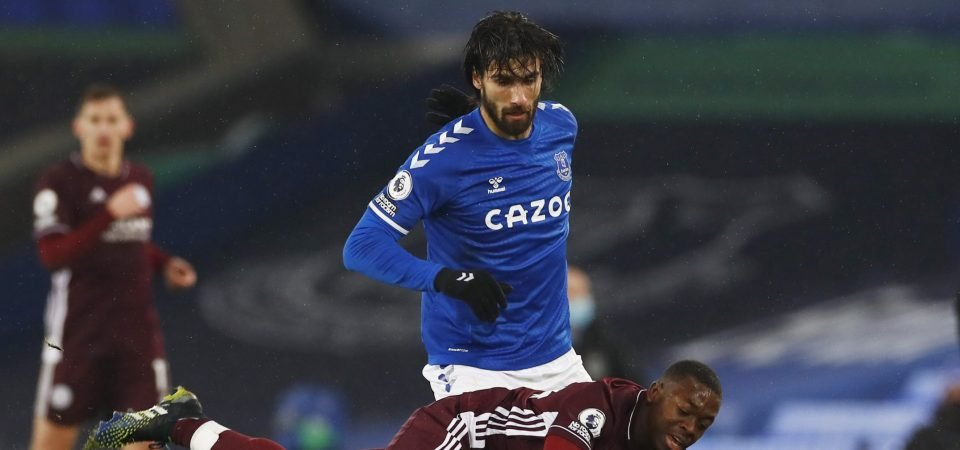 Andre Gomes filled the Abdoulaye Doucoure void for Everton vs Leicester
