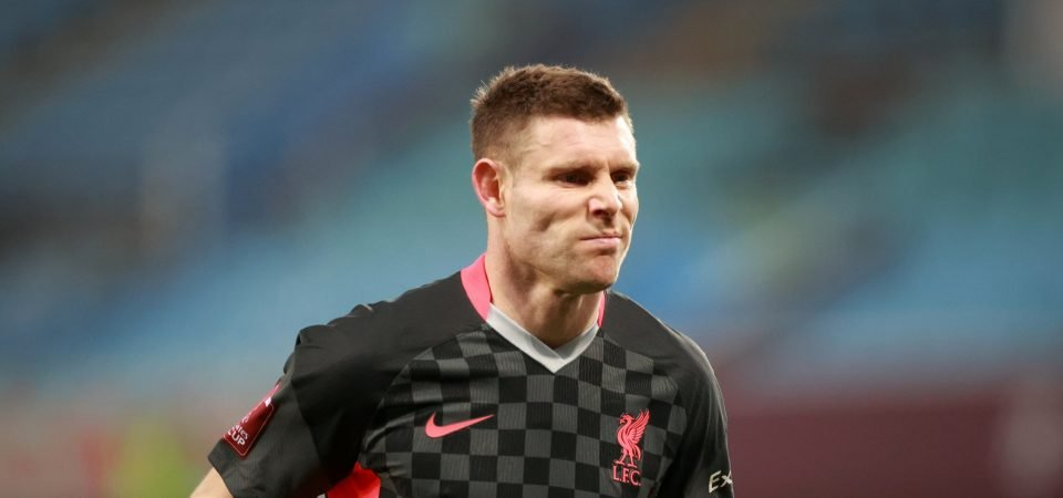 Liverpool suffer another injury blow with Milner