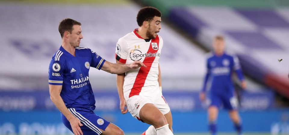 Southampton striker Che Adams produced anonymous display vs Leicester