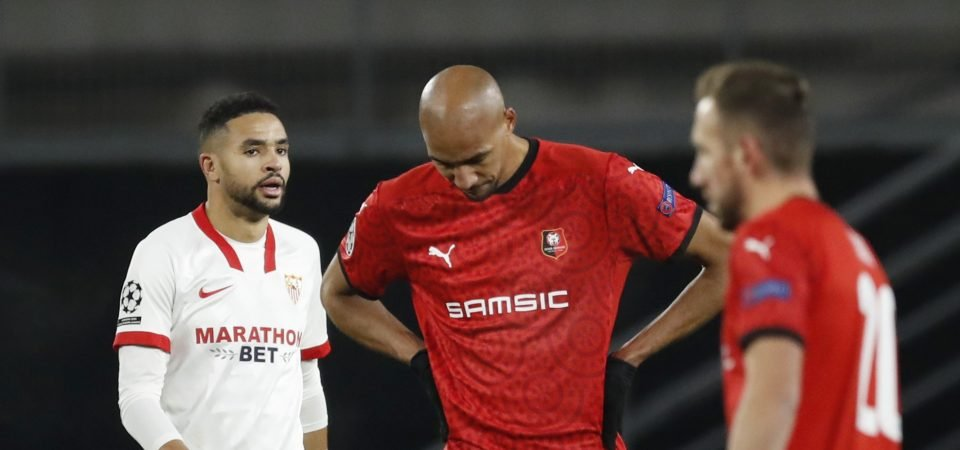Steven Nzonzi: Everton target to stay at Rennes for the rest of the season