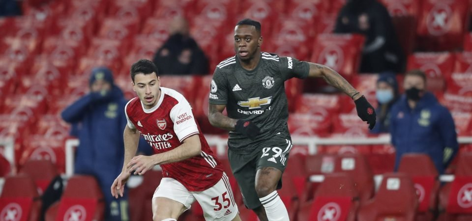 Manchester United's Aaron Wan-Bissaka was Solskjaer's only silver lining in Arsenal draw