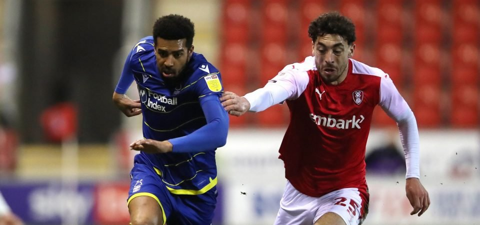 Nottingham Forest's Cyrus Christie was superb vs Rotherham in the Championship
