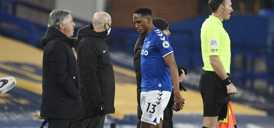 Yerry Mina: Carlo Ancelotti rules Everton defender out of Merseyside Derby