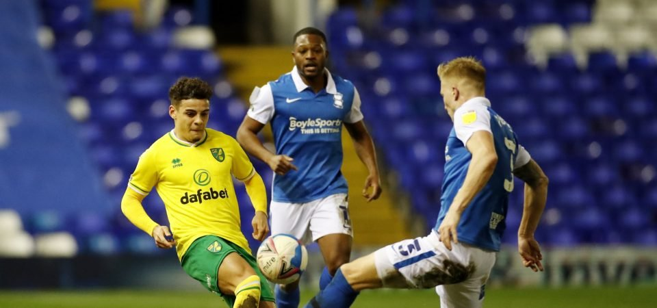 Max Aarons: Everton face European competition for Norwich City right-back