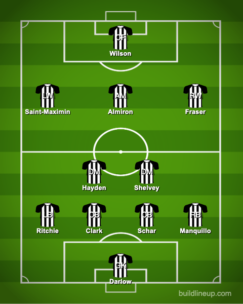 newcastle-united-predicted-steve-bruce-line-up-southampton-darlow-ritchie-schar-clark-manquillo-hayden-shelvey-almiron-saint-maximin-fraser-wilson-premier-league