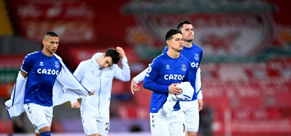 Everton: James Rodriguez expects to face Crystal Palace following calf injury