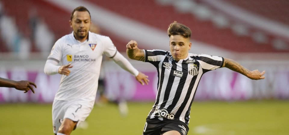Santos star Yeferson Soteldo open to summer transfer following Everton interest