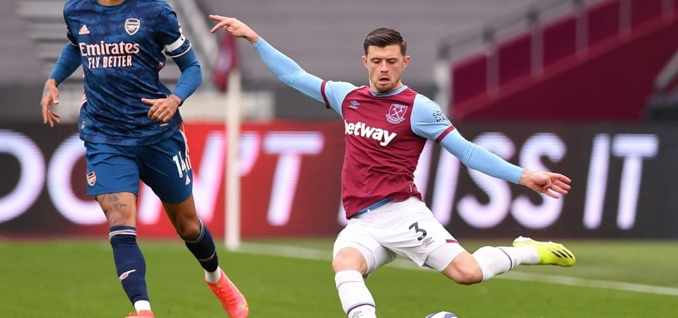 Aaron Cresswell let West Ham down in stunning Arsenal comeback