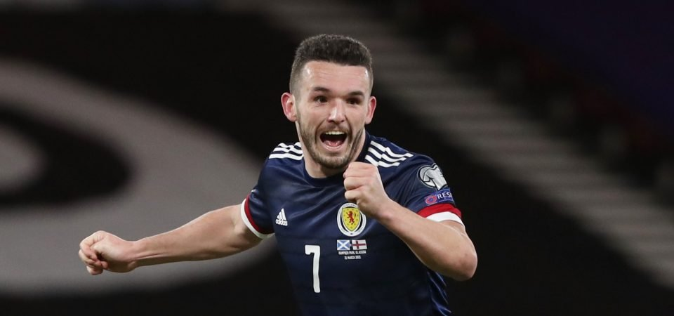 Liverpool linked with a move for John McGinn
