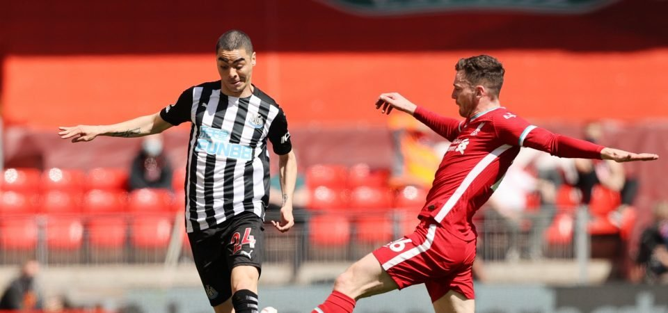 Miguel Almiron: Newcastle star let Steve Bruce down in 1-1 Liverpool draw