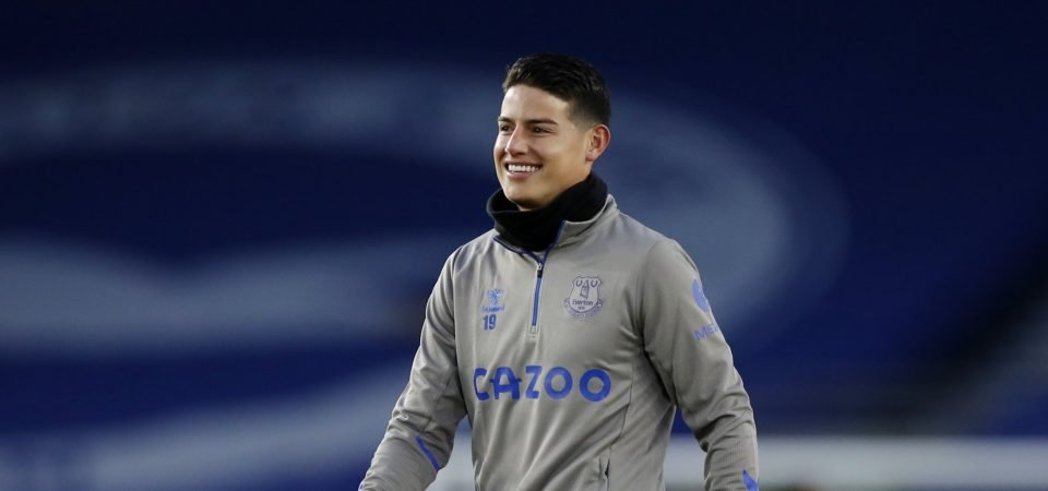 Everton handed James Rodriguez injury boost