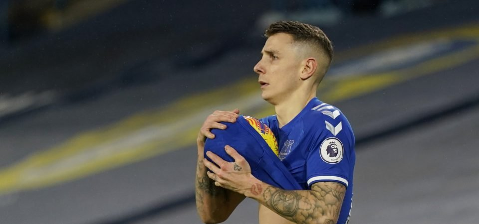 Lucas Digne on top form in Everton's win over Wolves