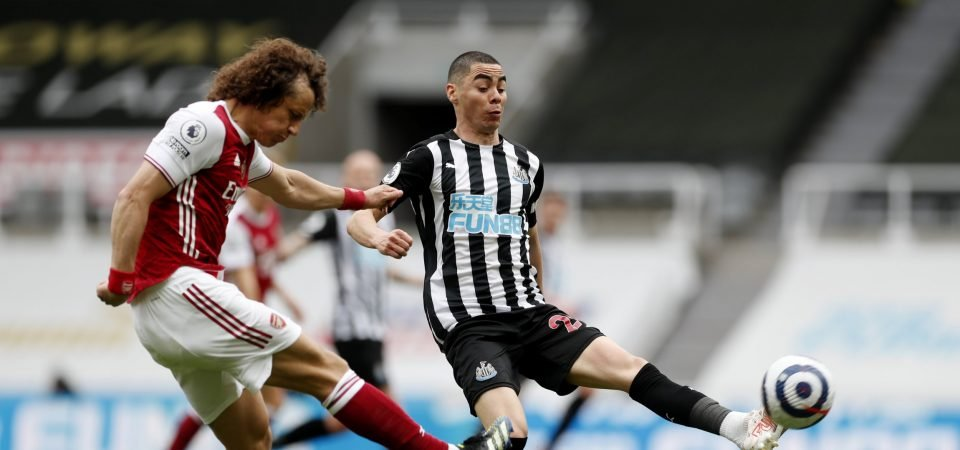 Newcastle's Miguel Almiron produced a shocking display vs Arsenal
