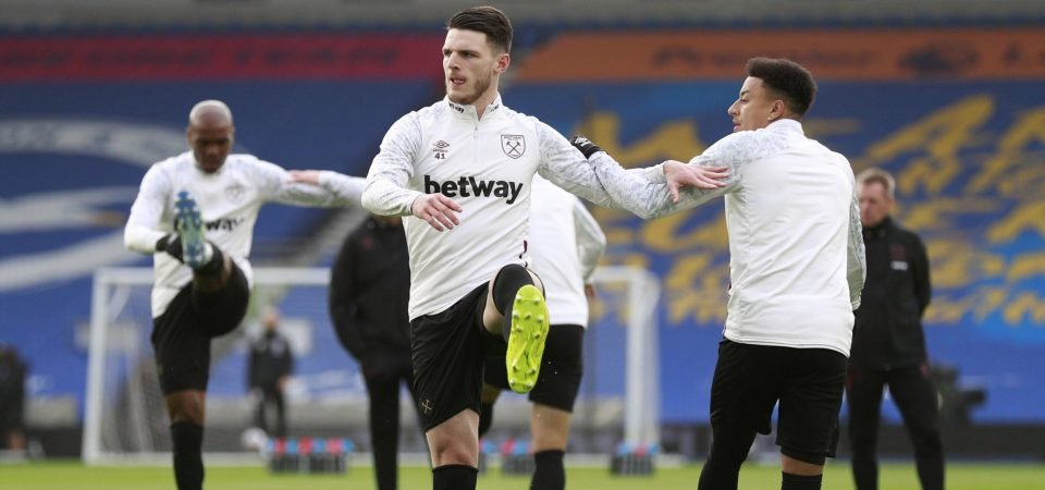Manchester United are considering using Jesse Lingard as a way to Declan Rice