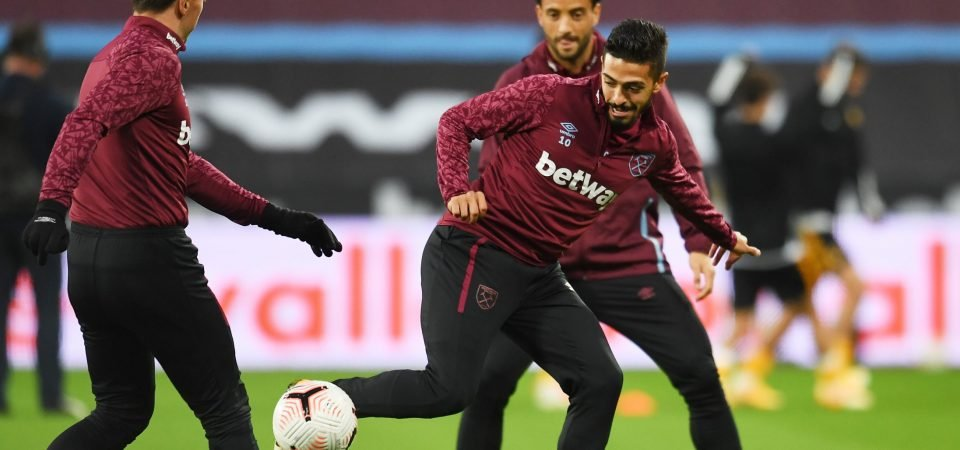Manuel Lanzini will miss West Ham's final two games, claims ExWHUemployee