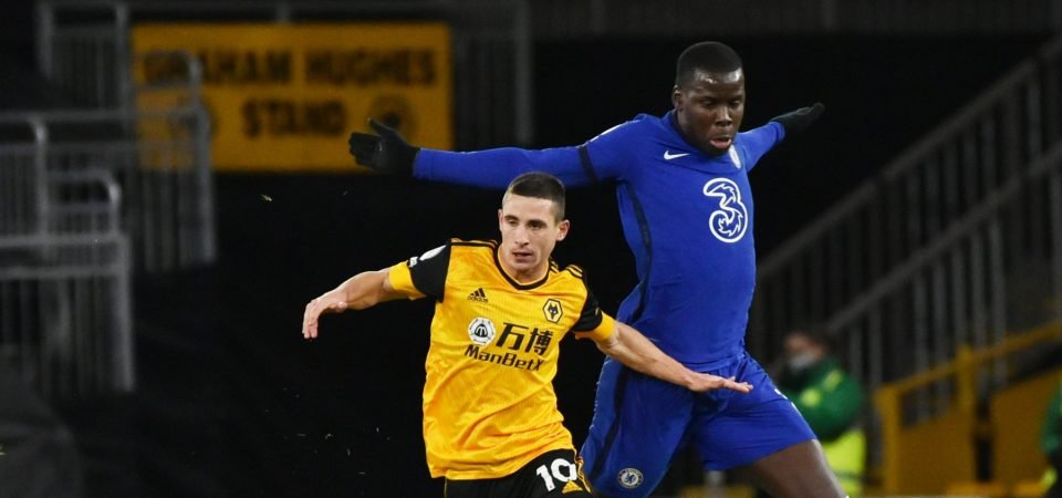 Journalist does not think Kurt Zouma is an unrealistic target for Wolves
