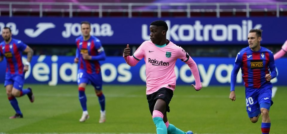 Manchester City have reportedly made an offer for Ilaix Moriba