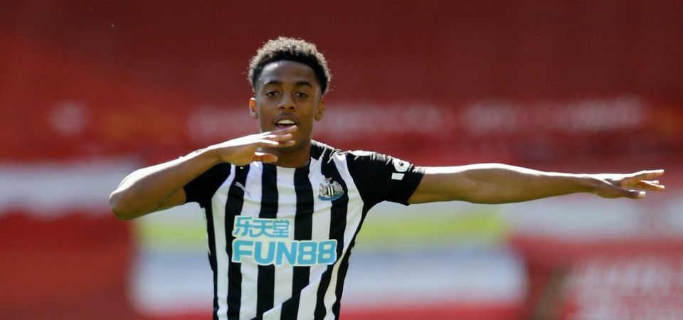Exclusive: Steve Howey insists Joe Willock must not be put under too much pressure after Newcastle move