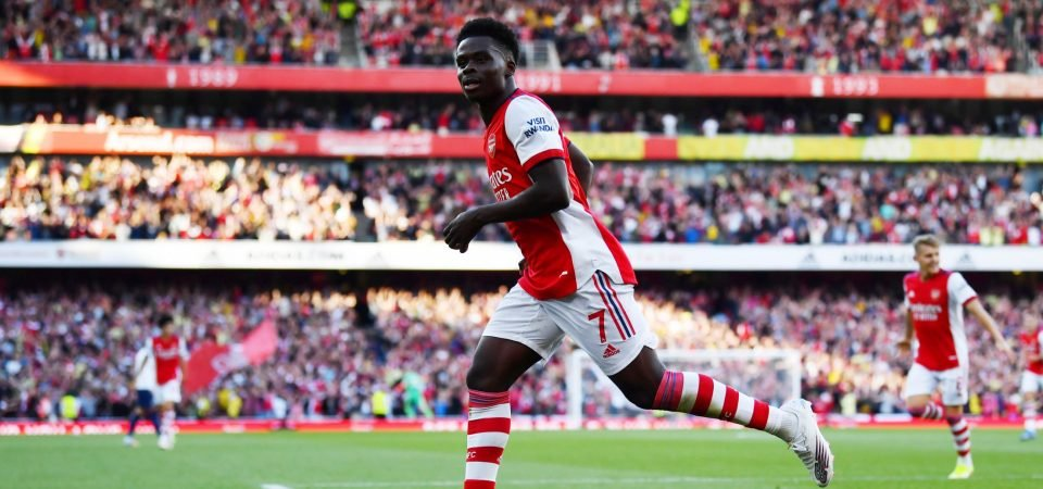 Arsenal's Bukayo Saka stole the show in the north London derby